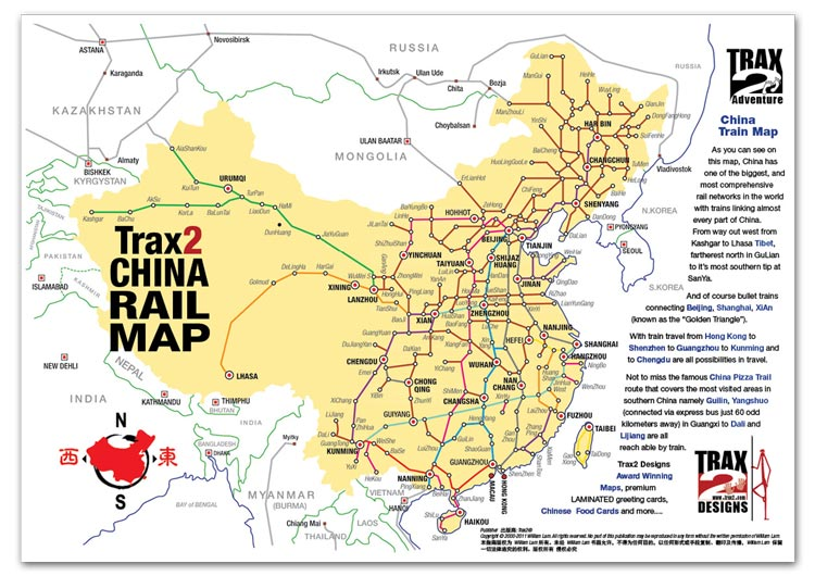 map of china trains