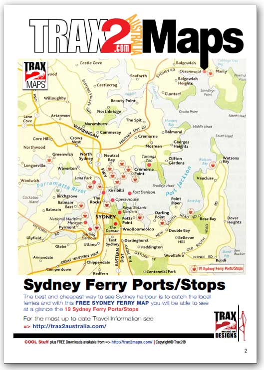 map of sydney ferry routes